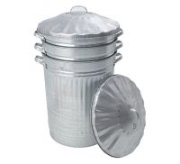 Galvanised Dust Bin with Lid